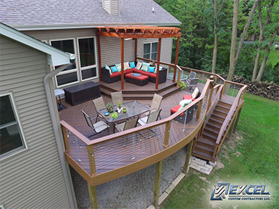 Volle - Composite Deck, Cable Rails & Pergola